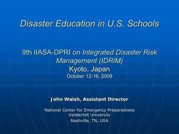 J. J. WALSH: Disaster Education in US Schools - Nexus-idrim.net