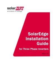 SolarEdge Installation Guide for Three Phase Inverters - Solco Solar ...