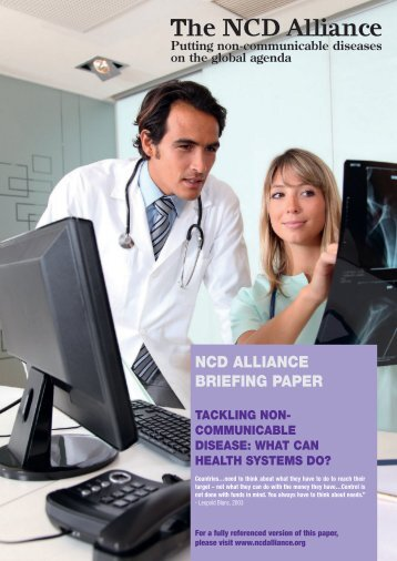 NCDA Briefing Paper - NCD Alliance