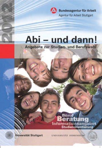 ABI - und dann! Angebote zur Studien - Bundesagentur für Arbeit