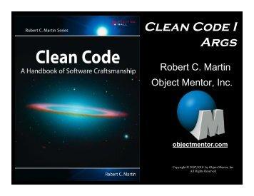 Clean Code Args