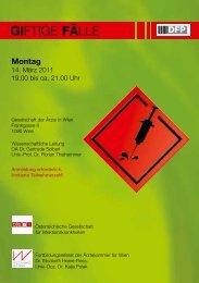 giftige fälle - Österreichische Gesellschaft für Infektionskrankheiten