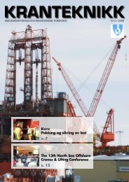 The 13th North Sea Offshore Cranes & Lifting Conference s. 13 Kurs ...