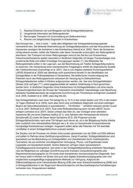 Akuttherapie des ischämischen Schlaganfalls - Deutsche ...