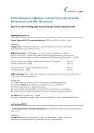 Empfehlungen zur Therapie und Nachsorge bei ... - Klinikum Stuttgart