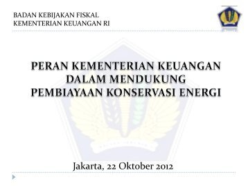 Jakarta, 22 Oktober 2012 - IESR