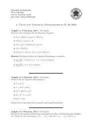 4. ¨Ubung zur Vorlesung Programmierung II, SS 2003