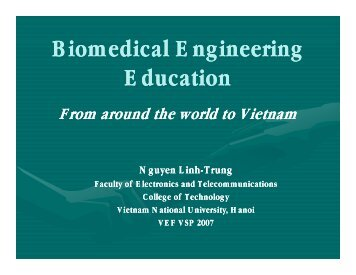 Biomedical Engineering Biomedical Engineering Education