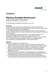 Guidelines KleinesSchädel-Hirntrauma - mediX schweiz