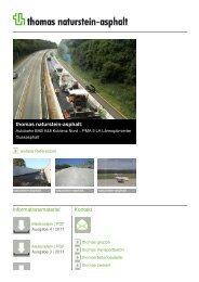 thomas naturstein-asphalt: Informationsmaterial ... - Thomas Gruppe