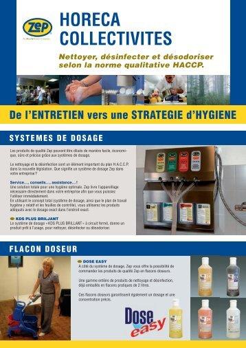 HORECA COLLECTIVITES Nettoyer, désinfecter ... - zepindustries.eu