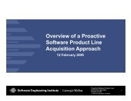 Overview of a Proactive Software Product Line Acquisition Approach ...