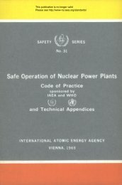 Safe Operation of Nuclear Power Plants - gnssn - International ...