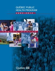 Québec public health program 2003-2012