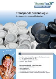 Transpondersysteme - ThermoTex