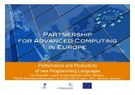 Performance and Productivity of new Programming Languages - prace