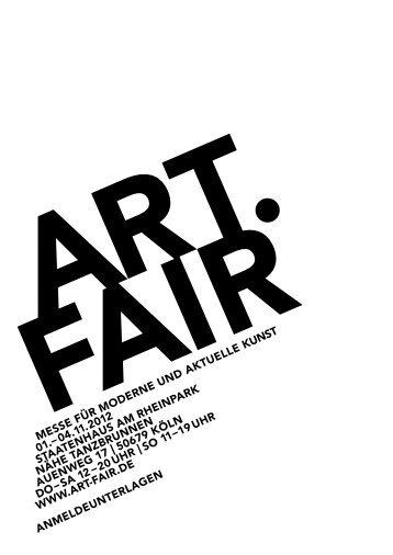 Messe für Moderne und aktuelle kunst 01.– 04.11.2012 ... - Art.Fair