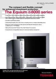 The series Equium 8000 - Toshiba