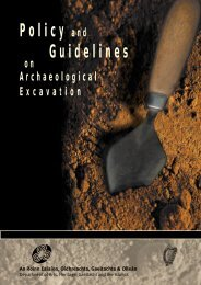 Policy and Guidelines on Archaeological Excavations - National ...