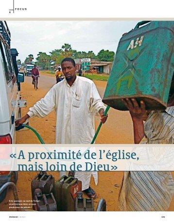 """Article """"Pétrole"""" dans le magazine Le monde de SWISSAID, août 2008"""