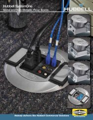 Hubbell SystemOne Metal and Non-Metallic Floor Boxes