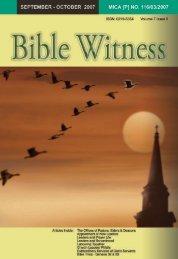 Biblical Leadership - Bible Witness