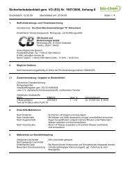 Sicherheitsdatenblatt gem. VO (EG) Nr. 1907/2006 ... - Wendisch-PS