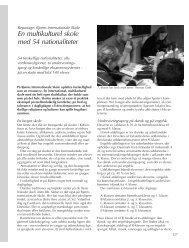 En multikulturel skole med 54 nationaliteter - Friskolebladet.dk