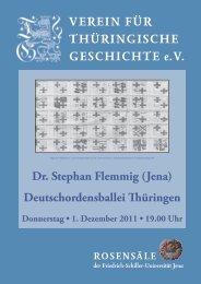 Dr. Stephan Flemmig - Verein für Thüringische Geschichte