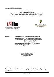 der Bundesländer Sachsen, Sachsen-Anhalt und Thüringen - Thillm