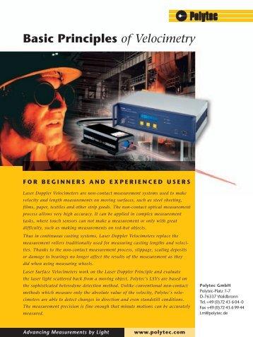 Basic Principles of Velocimetry