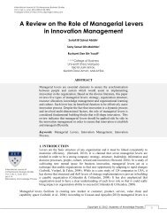 A Review on the Role of Managerial Levers in Innovation ...