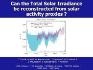 Can the Total Solar Irradiance be Reconstructed - Solar Physics at ...