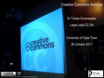 Creative Commons Seminar - Vula - University of Cape Town