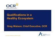 Seminar: Where do good qualifications come from? - Greg Watson
