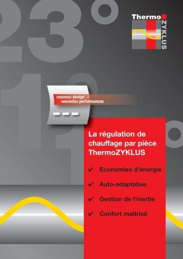 La régulation de chauffage par pièce ThermoZYKLUS