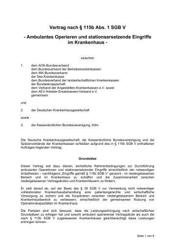 Vertrag nach § 115 b SGB V - Deutsche Krankenhausgesellschaft