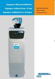 Aquapro-Wasserenthärter Aquapro-Adoucisseur d ... - Birchmeier AG