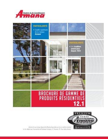 brochure de gamme de produits résidentiels - Amana HAC