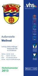 Weilrod - Vhs Bad Homburg
