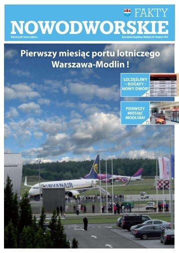 Pierwszy miesiąc portu lotniczego WarszawaTModlin ! - Nowy Dwór ...