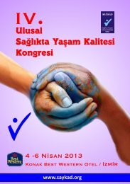 Ulusal Sağlıkta Yaşam Kalitesi Kongresi
