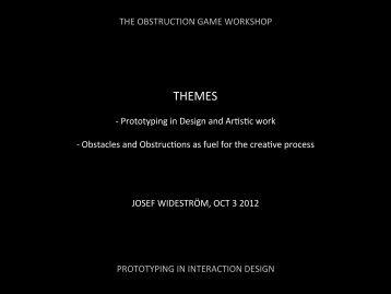 THEMES - Interaction Design & Technologies