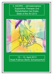 3. ASORS – Jahreskongress Supportive Therapie und ...