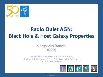 Radio Quiet AGN: Black Hole & Host Galaxy Proper es