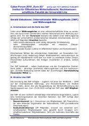 """Cyber-Forum 2010 """"Euro (€)"""" online vom 15.11.2010 bis 15.02.2011"""