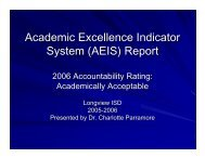 (AEIS) Report - Longview Independent School District
