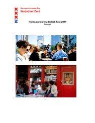 Horecabeleid Zuid 2011 (inclusief moties) - Stadsdeel Zuid ...