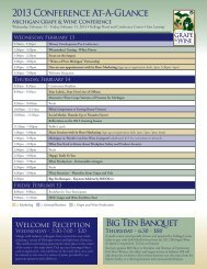 2013 Conference Program - Michigan Wines
