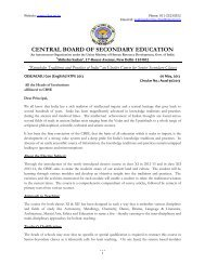 CENTRAL BOARD OF SECONDARY EDUCATION - CBSE